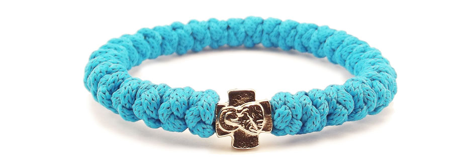 33Knots Ocean Blue Prayer Bracelet