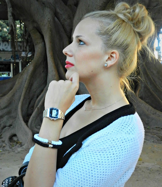 White and black prayer bracelet featured by Mistylobycris