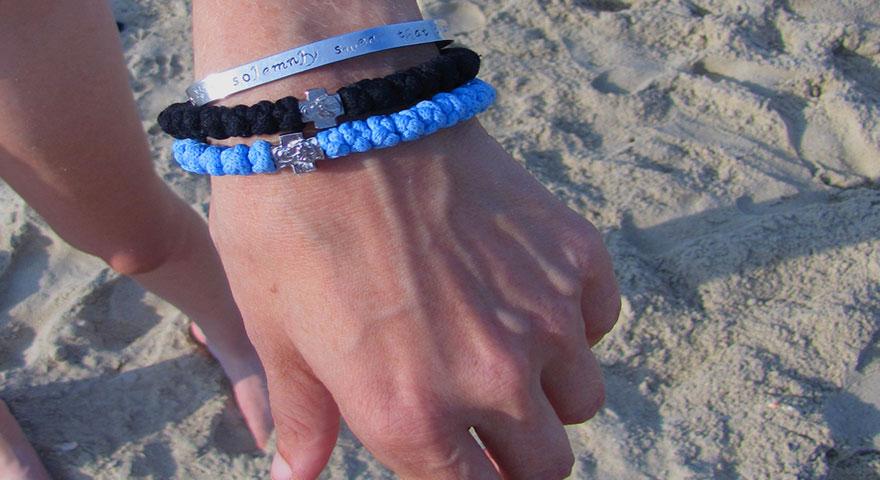 End of Summer Beach Trip | Light Blue Prayer Rope Bracelet