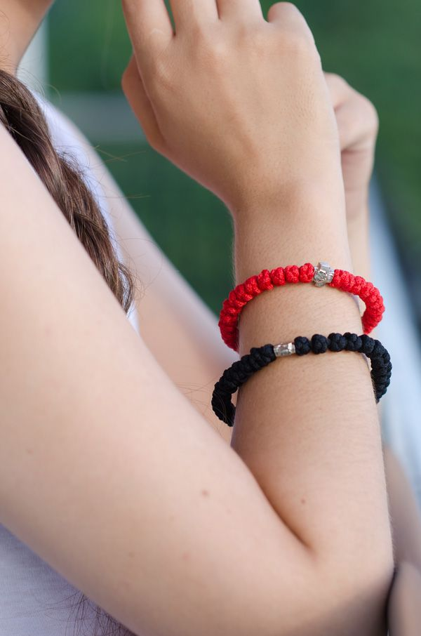 red prayer rope bracelet