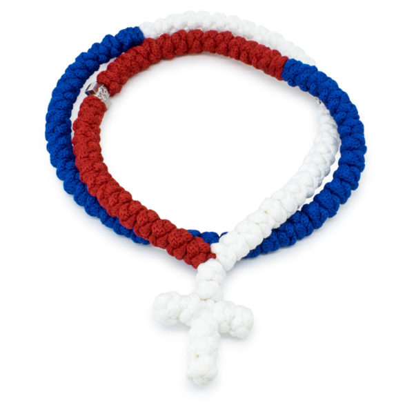 Red White and Blue Prayer Rope Necklace-0