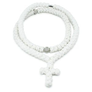 White Prayer Rope Necklace-0