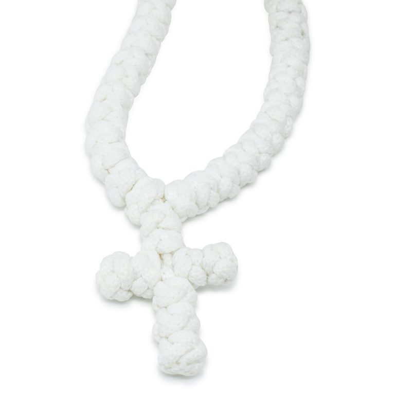 Chic And Original 100 Knot White Prayer Necklace