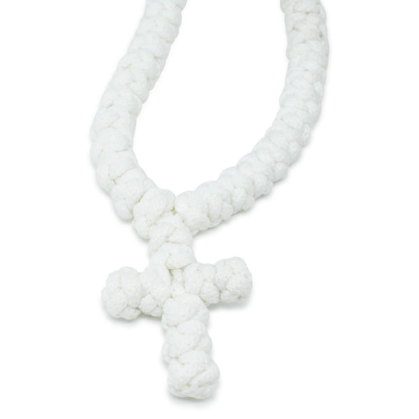 White Prayer Rope Necklace - No Dividers