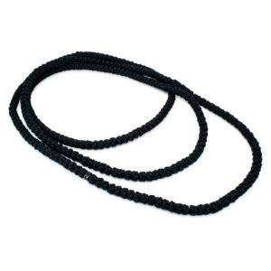 Super Long Black Prayer Rope Necklace - 300!-0