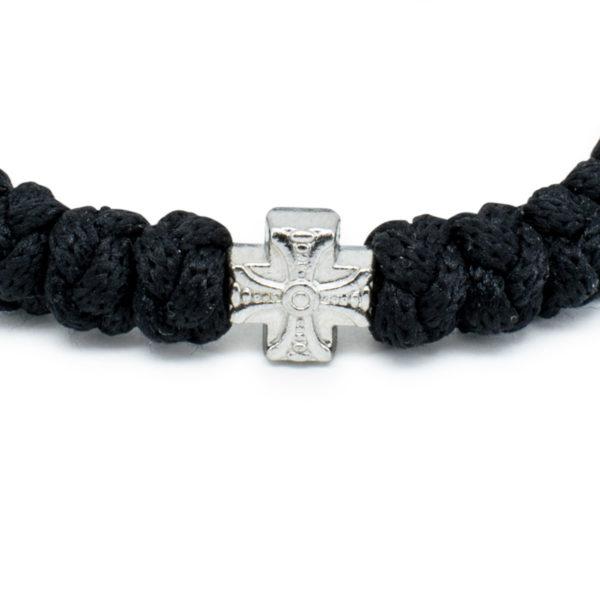 Adjustable Black Prayer Rope Bracelet