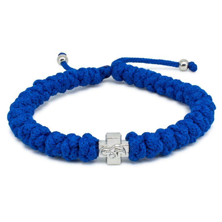Adjustable Blue Prayer Rope Bracelet-0