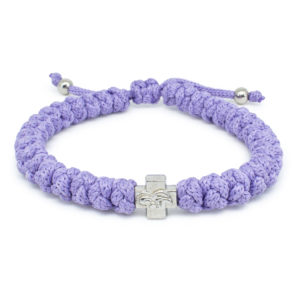 Adjustable Lila Prayer Rope Bracelet-0
