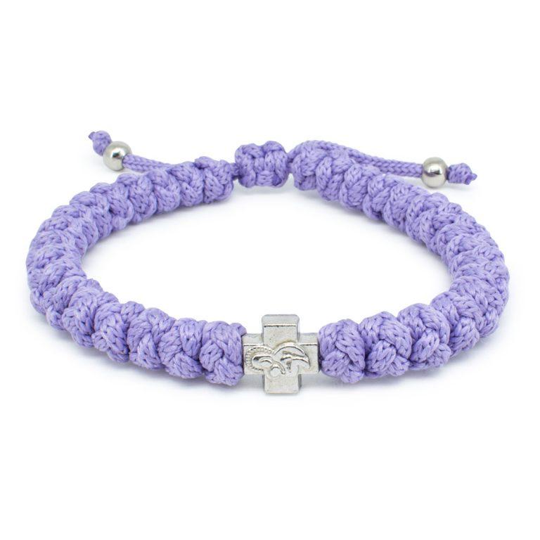Adjustable Lila Prayer Rope Bracelet-0