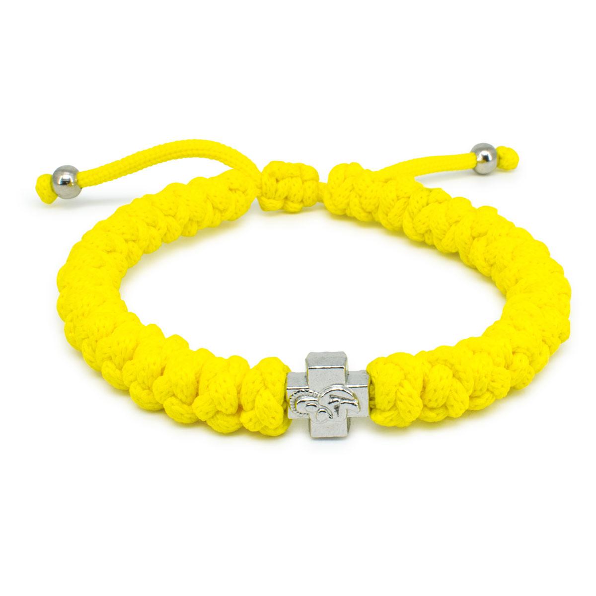 Adjule Neon Yellow Prayer Rope Bracelet