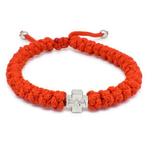 Adjustable Red Prayer Rope Bracelet-0