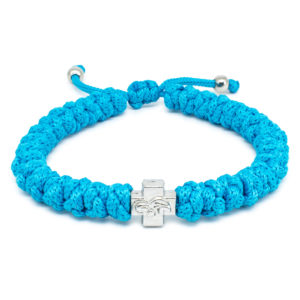 Adjustable Turquoise Prayer Rope Bracelet-0