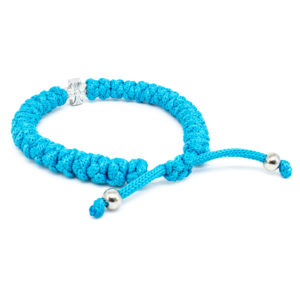Adjustable Turquoise Prayer Rope Bracelet