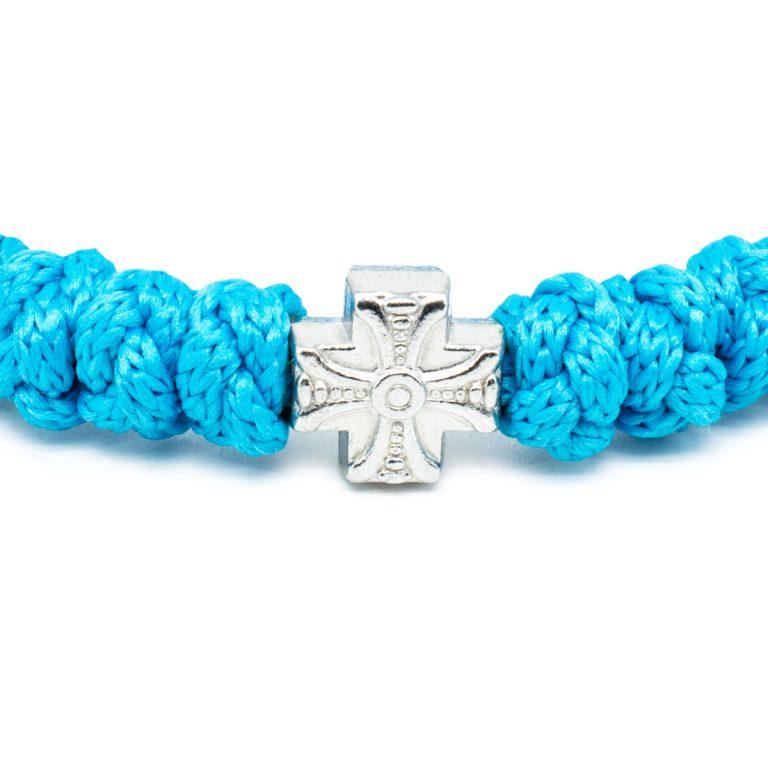 Adjustable Turquoise Prayer Rope Bracelet-674
