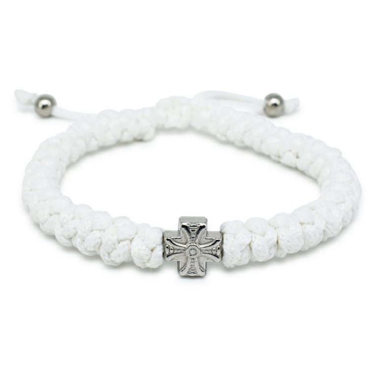 Adjustable White Prayer Bracelet