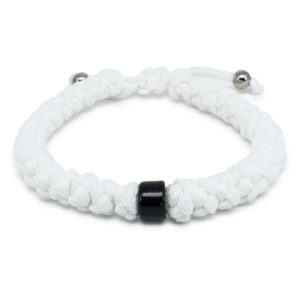 Black Beaded Adjustable White Prayer Rope Bracelet-0