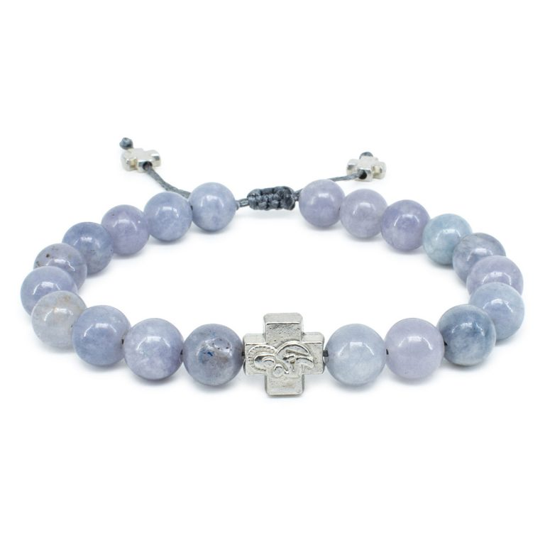 Aquamarine Stone Orthodox Bracelet-0