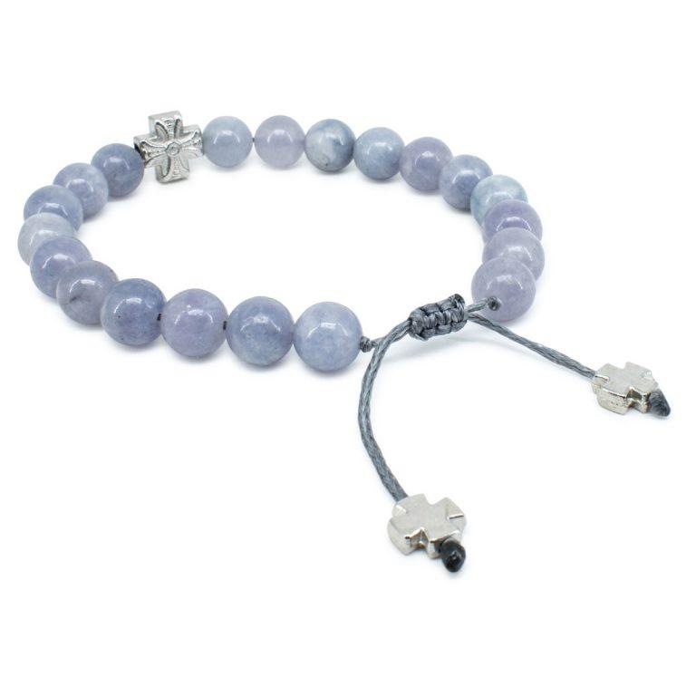 Alluring Aquamarine Stone Prayer Bracelet