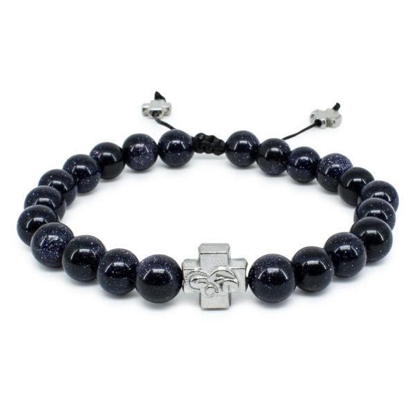 Black Gold Stone Orthodox Bracelet-0