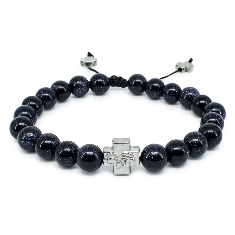 Black Gold Stone Orthodox Bracelet-0