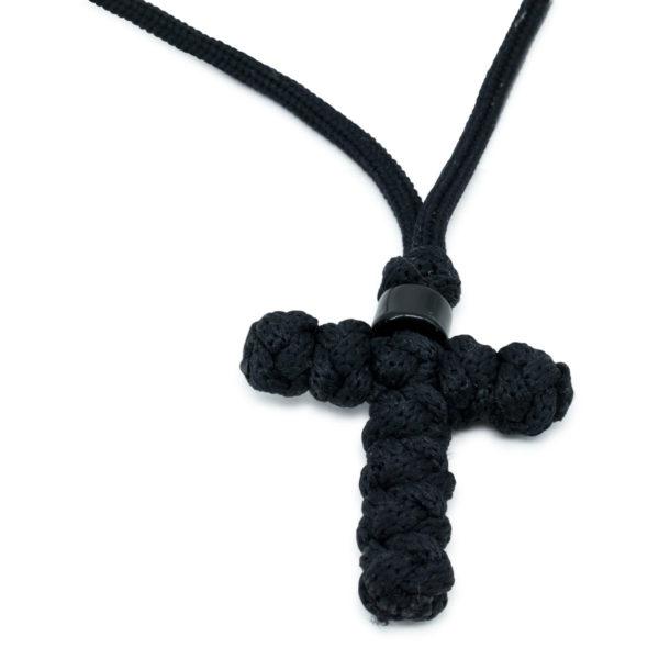 Charming Orthodox Black Cross Necklace