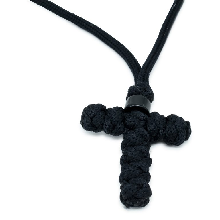 Charming Orthodox Black Cross Necklace