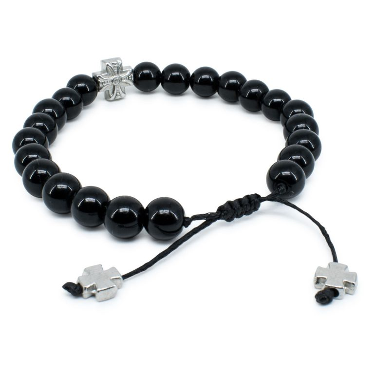 Black Onyx Stone Prayer Bracelet