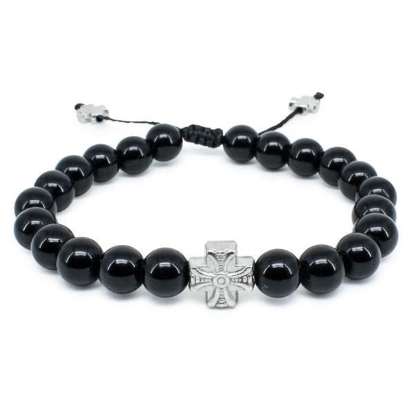 Black Onyx Stone Prayer Bracelet