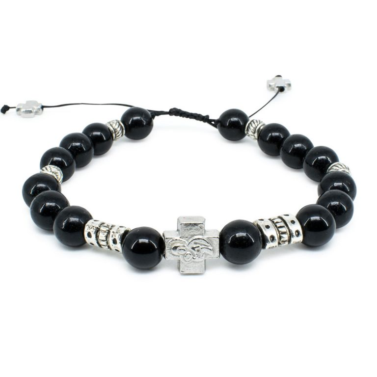"""Black Onyx Stone Orthodox Bracelet """"Zane""""-0"""
