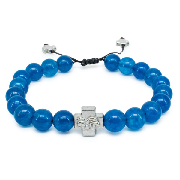 Blue Jade Stone Orthodox Bracelet-0