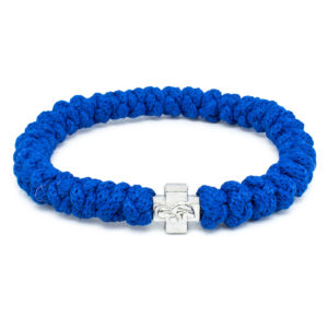 Blue Prayer Rope Bracelet-0