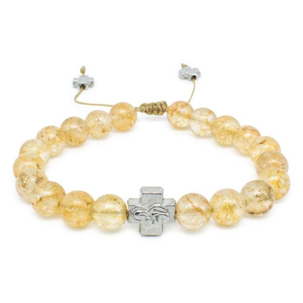 Citrine Stone Prayer Bracelet-0