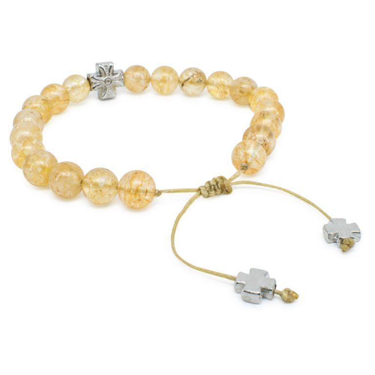 Divine Citrine Stone Prayer Bracelet