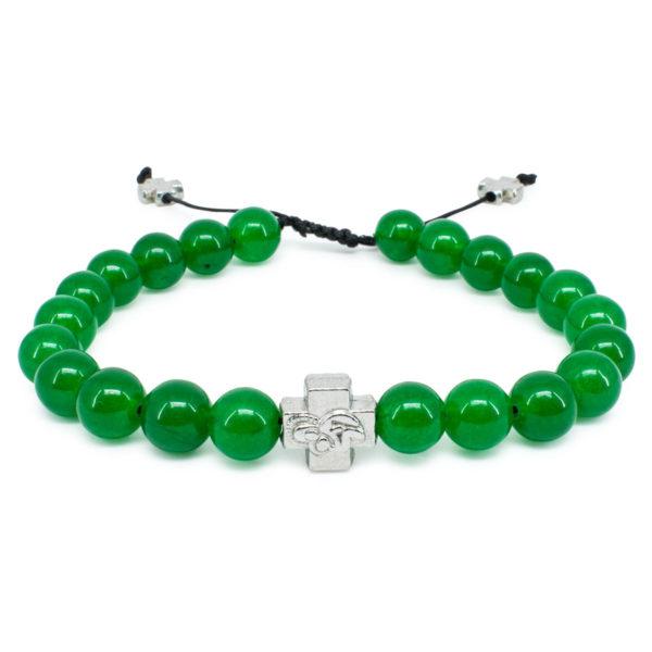 Green Jadeite Stone Orthodox Bracelet-0