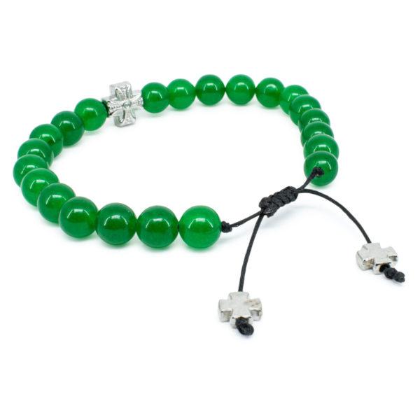 Green Jadeite Stone Prayer Bracelet