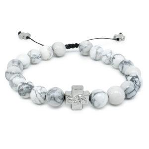 Howlite Stone Orthodox Bracelet-0