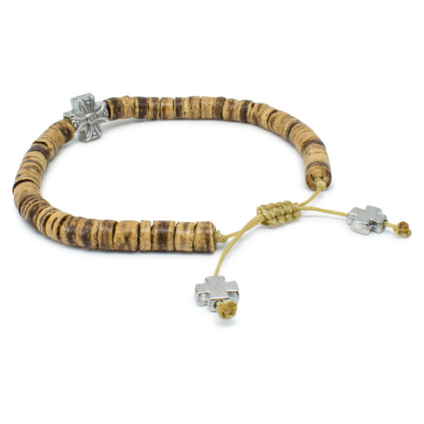 Amazing Coconut Tree Beads Wooden Prayer Bracelet