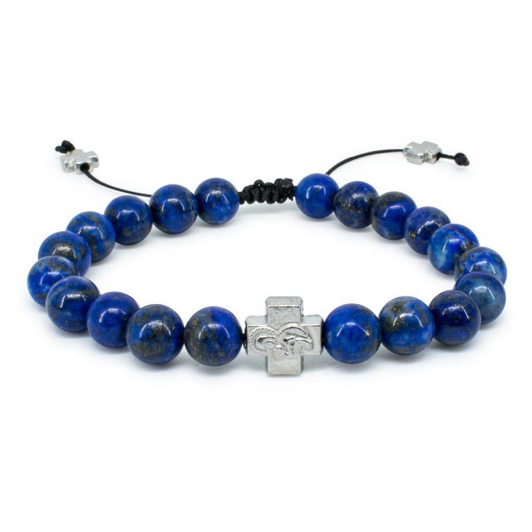 Lapis Lazuli Stone Orthodox Bracelet-0