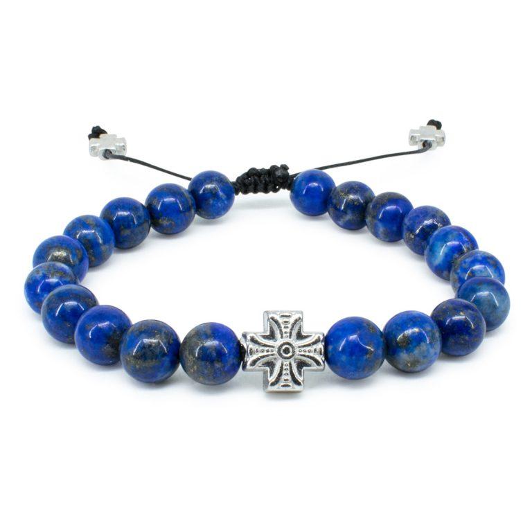 Glorious Lapis Lazuli Stone Prayer Bracelet
