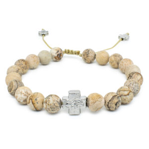Matte Calcite Stone Orthodox Bracelet-0
