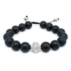 Matte Onyx Stone Orthodox Bracelet-0
