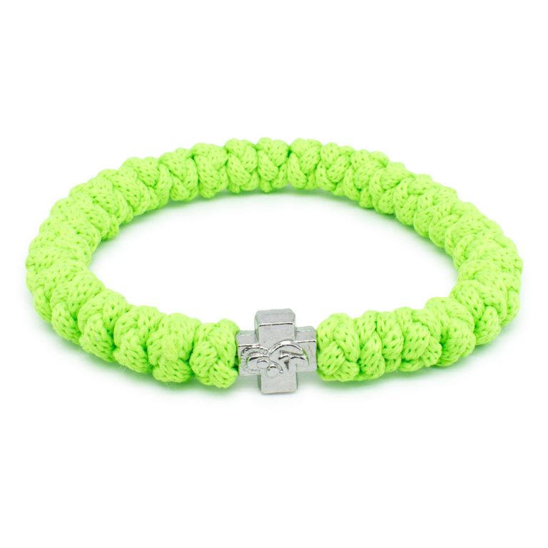 Neon Green Prayer Rope Bracelet-0