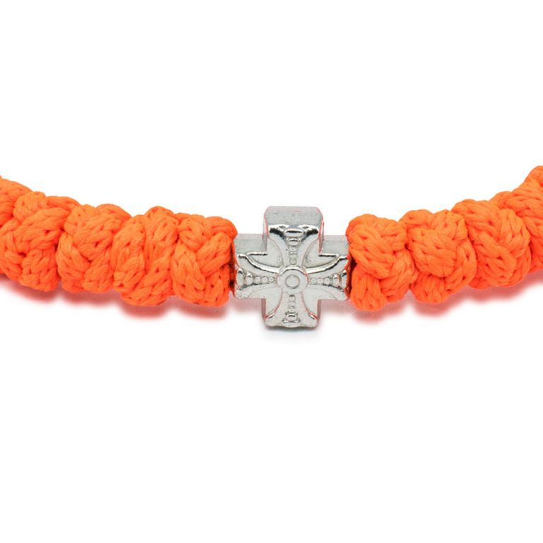 Adjustable Neon Orange Prayer Bracelet