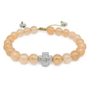 Orange Candy Jade Stone Orthodox Bracelet-0