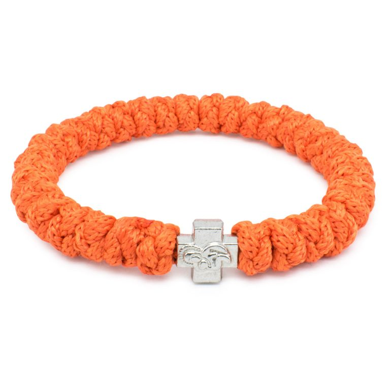 Orange Prayer Rope Bracelet-0