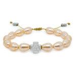 Peach Swarovski Teardrop Pearl Orthodox Bracelet-0