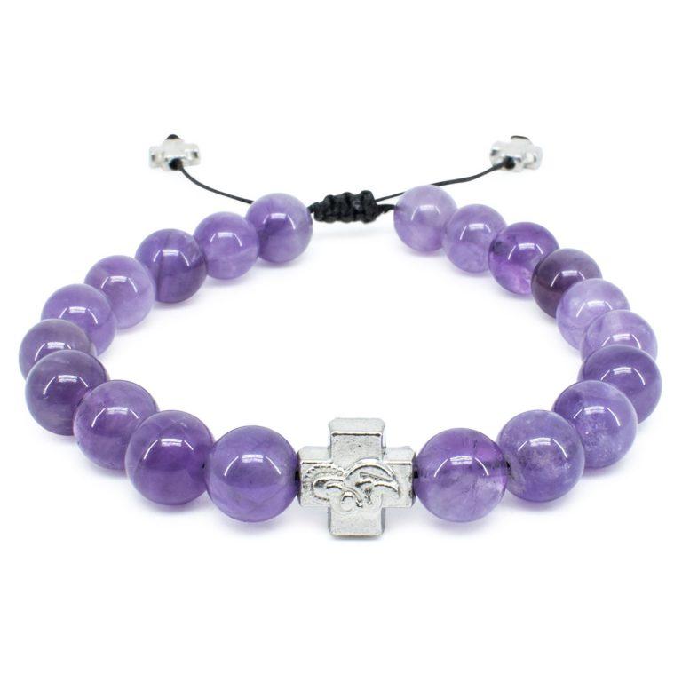 Purple Amethyst Stone Orthodox Bracelet-0