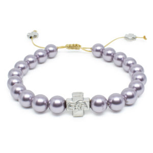 Purple Swarovski Pearl Orthodox Bracelet-0