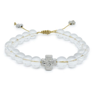 Crystal Quartz Stone Orthodox Bracelet-0
