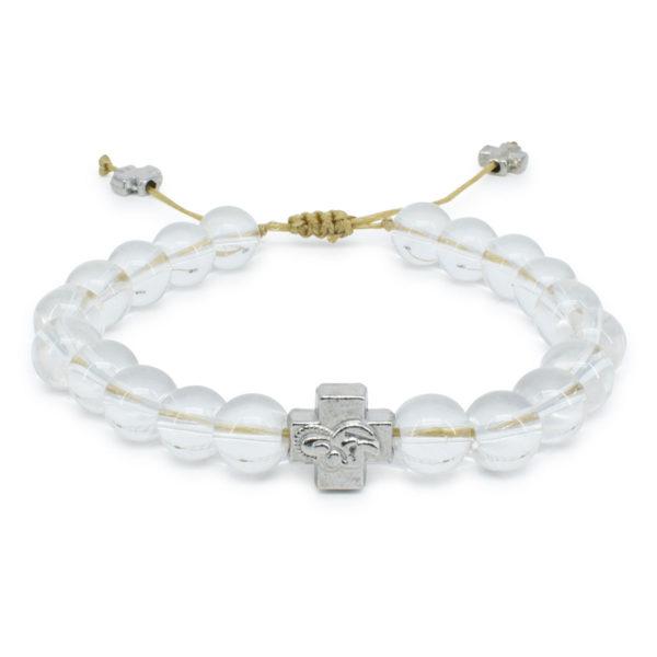 Crystal Quartz Stone Orthodox Bracelet-0